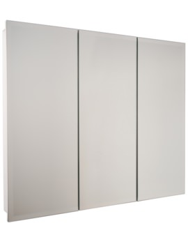 Croydex Harper Triple Door Stainless Steel Cabinet