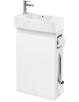 Britton All-in-One Floor Standing White Unit With Left Hand Basin