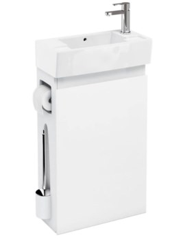 Britton All-in-One Floor Standing White Unit With Right Hand Basin