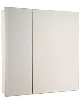 Croydex Dempsey Double Door Stainless Steel Cabinet