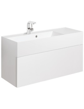 Elite 1000mm White Gloss Single Drawer Basin Unit