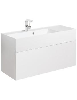 Elite 1000mm White Gloss Single Drawer Basin Unit
