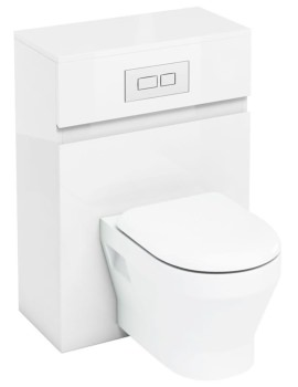 Britton Aqua Cabinets D300 White 600mm Wall Hung WC Unit With Flush Plate