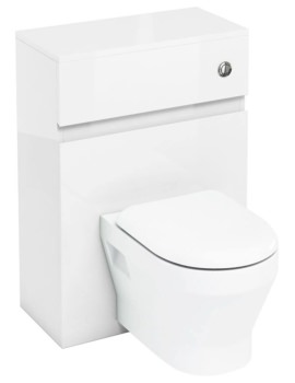 Britton Aqua Cabinets D300 White 600mm Wall Hung WC Unit With Push Button