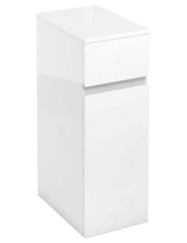 Britton Aqua Cabinets D450 White 300mm Cupboard And Drawer Unit