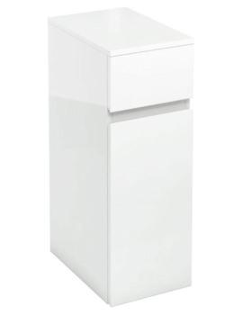 Britton Aqua Cabinets D450 White 300mm Floor Standing Triple Drawer Unit