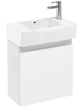 Aqua Cabinets Compact 250 Wall Hung Unit And RH Cloakroom Basin