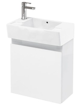 Britton Aqua Cabinets Compact 250 Wall Hung Unit And LH Cloakroom Basin