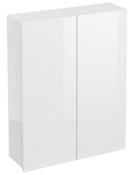 Britton Aqua Cabinets White 600mm Double Door Wall Mounted Cabinet