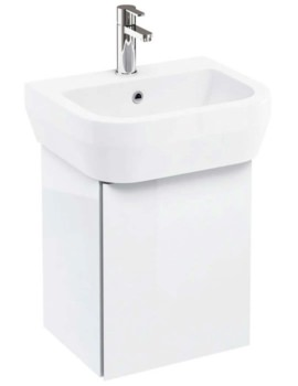 Britton Aqua Cabinets AquaCube White Wall Hung Cloakroom Unit