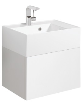 Elite 500mm White Gloss Single Drawer Basin Unit