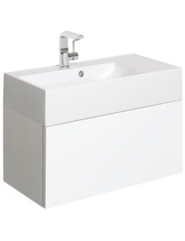 Elite 700mm White Gloss Single Drawer Basin Unit