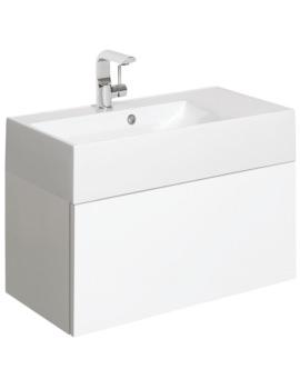 Elite 700mm White Gloss Single Drawer Basin Unit