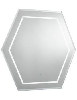 Bauhaus Waldorf 600 x 600mm Illuminated Mirror