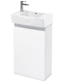 Aqua Cabinets Compact 305 Floor Standing Unit And LH Cloakroom Basin