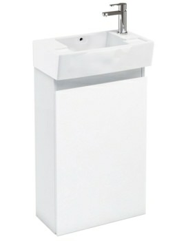 Aqua Cabinets Compact 305 Floor Standing Unit And RH Cloakroom Basin