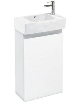 Aqua Cabinets Compact 305 Floor Standing Unit And RH Cloakroom Basin