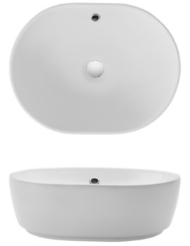 Gallery Pearl Countertop Basin With Overflow
