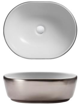 Bauhaus Gallery Pearl Platinum Countertop Basin