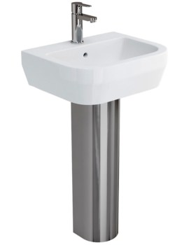 Curve S30 Basin 500mm With Stainless Steel Pedestal