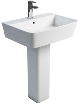 Fine S40 Washbasin 600mm And Square Full Pedestal
