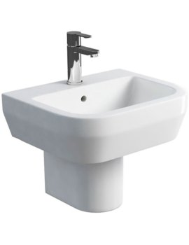 Curve S30 500mm Wash Basin And Round Semi Pedestal