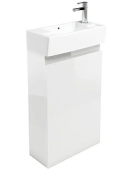 Aqua Cabinets Compact 250 Floor Standing Unit And RH Cloakroom Basin