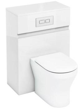 Britton Aqua Cabinets D300 White 600mm Back To Wall WC Unit With Flush Plate
