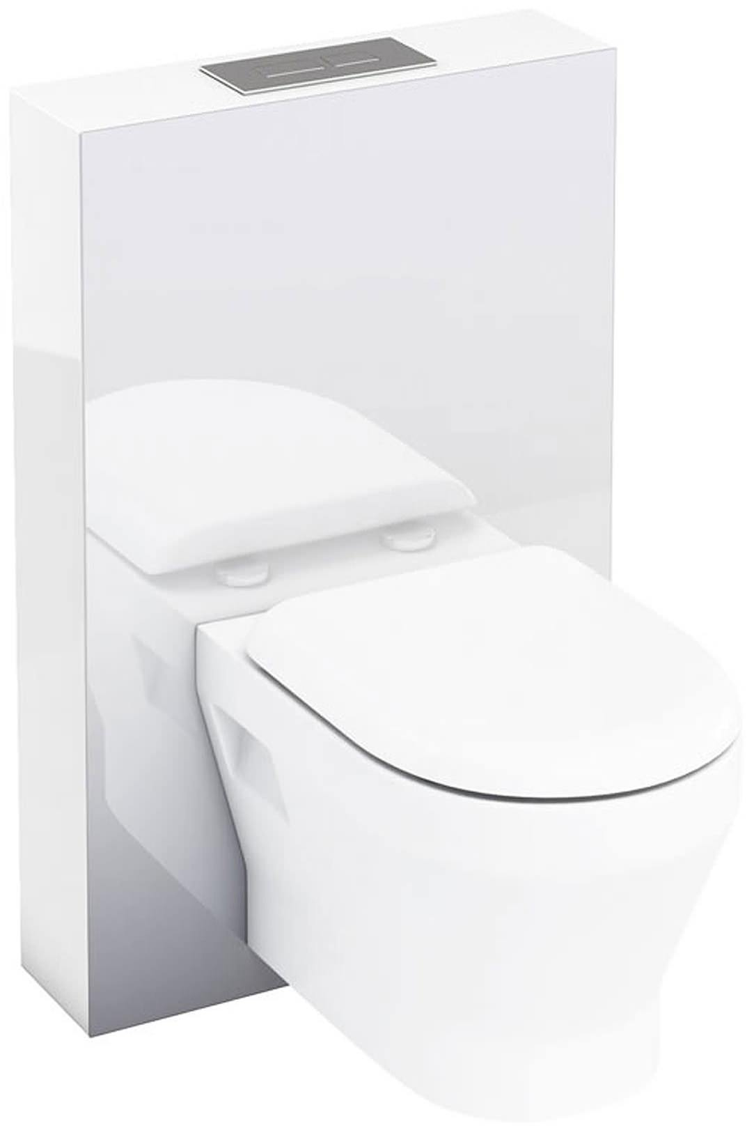 Britton Aqua Cabinets Tablet 550mm White Wall Hung WC Unit With Steel Frame