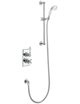 Trent Thermostatic Concealed Shower Valve With Slide Rail Kit