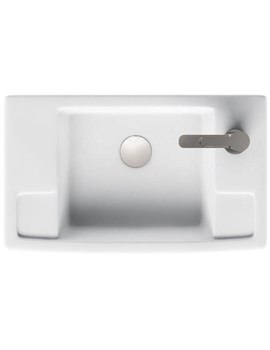 Aqua Cabinets Deep Cloakroom Right Handed Ceramic Basin