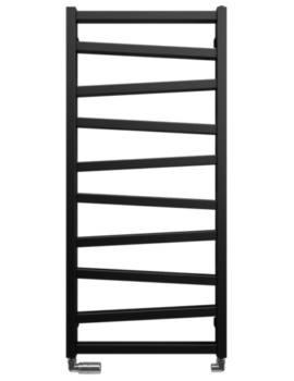Crosswater Bauhaus Wedge Towel Warmer - Black and White Finish - 500 x 1090mm - Image