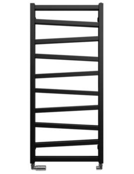 Gallery Wedge 500 x 1096mm Black Matte Towel Warmer