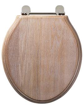Greenwich Limed Oak Solid Wood Toilet Seat - 8099LI