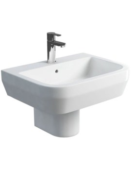 Curve S30 600mm Wash Basin And Round Semi Pedestal