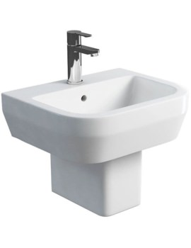Curve S30 Basin 500mm With Square Fronted Semi Pedestal