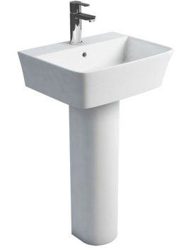 Fine S40 500mm Washbasin With Round Full Pedestal