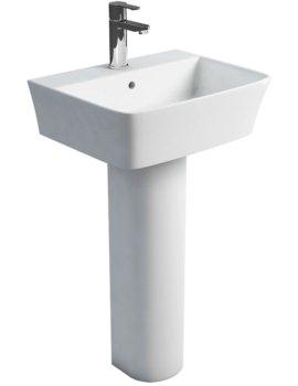 Britton Fine S40 500mm Washbasin With Round Full Pedestal
