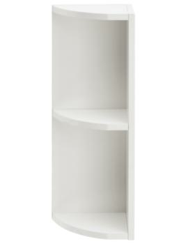 Caversham Traditional White Ash 265mm Curved End Open Unit