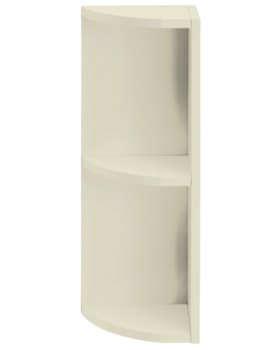 Caversham Traditional Oyster 265mm Curved End Open Unit