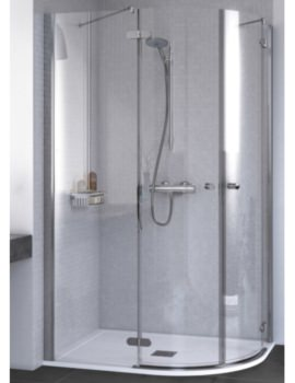 ID Match Round 1200 x 800mm Offset Quadrant Shower Enclosure