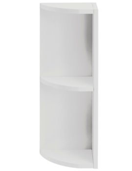 Caversham Traditional Dove Grey 265mm Curved End Open Unit