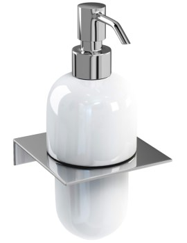 Stainless Steel Shelf With Ceramic Soap Dispenser