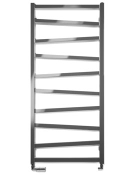 Bauhaus Gallery Wedge 500 x 1096mm Chrome Towel Warmer