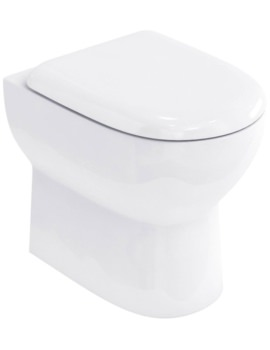Britton Compact BTW WC Pan With Soft Close Seat