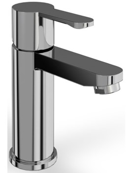 Crystal Chrome Basin Mixer Tap Without Pop Up Waste - CTA1