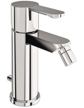 Crystal Chrome Bidet Mixer Tap With Pop Up Waste - CTA4