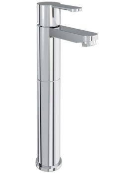 Britton Crystal Chrome Tall Basin Mixer Tap - CTA3