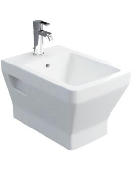 Cube S20 Wall Hung Bidet - White