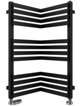Gallery Zion 350 x 735mm Black Matte Towel Warmer